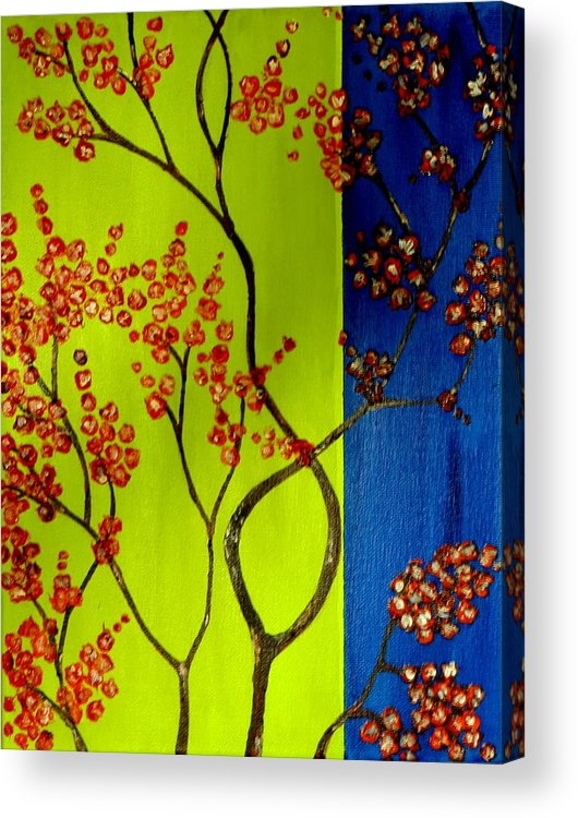 Neon Acrylic Print featuring the painting Neon Spring - 2 by Shweta Sinha