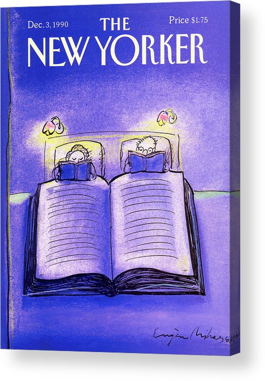 Married Couple Acrylic Print featuring the painting New Yorker December 3rd, 1990 by Eugene Mihaesco