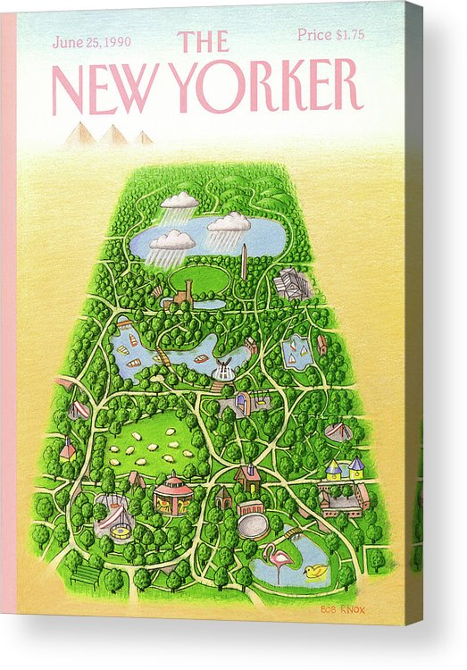New York City Acrylic Print featuring the painting New Yorker June 25th, 1990 by Bob Knox