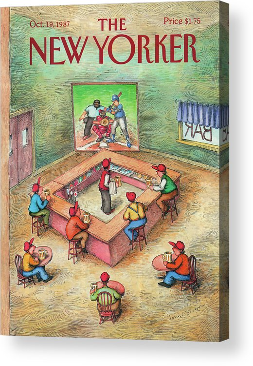 Leisure Acrylic Print featuring the painting New Yorker October 19th, 1987 by John O'Brien