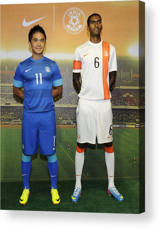 finest selection 5a7e5 ec18b Nike Launches India National Football Team Kit Acrylic Print