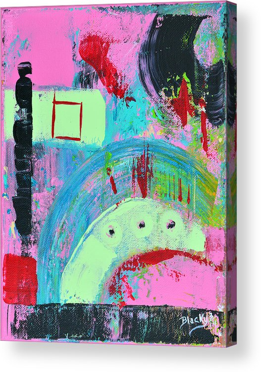 Modern Acrylic Print featuring the painting Playing The Game by Donna Blackhall