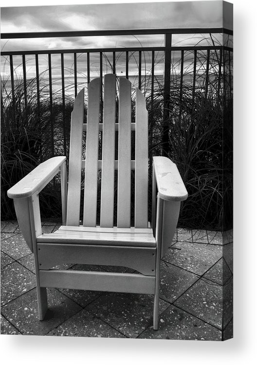 Beach Chair Acrylic Print featuring the photograph Poolside And Gulfside by Julie Dant