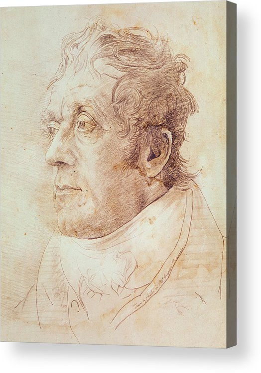 Portrait Of J.m.w. Turner Acrylic Print featuring the drawing Portrait Of Jmw Turner by Cornelius Varley