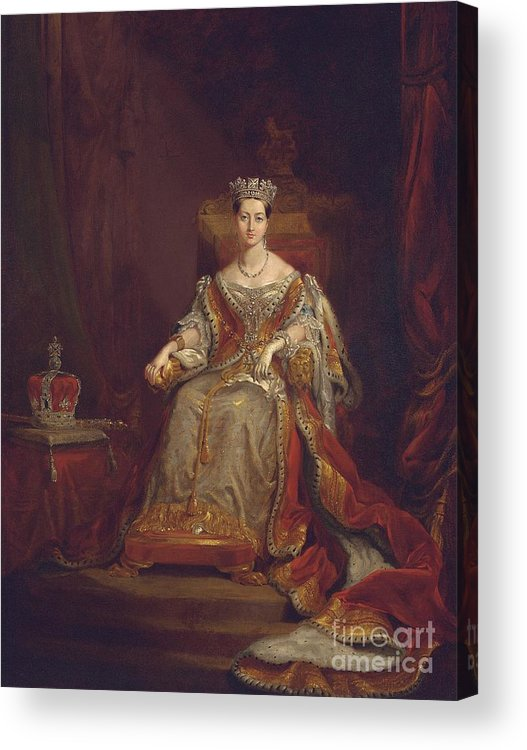 Queen Acrylic Print featuring the painting Queen Victoria by Sir George Hayter