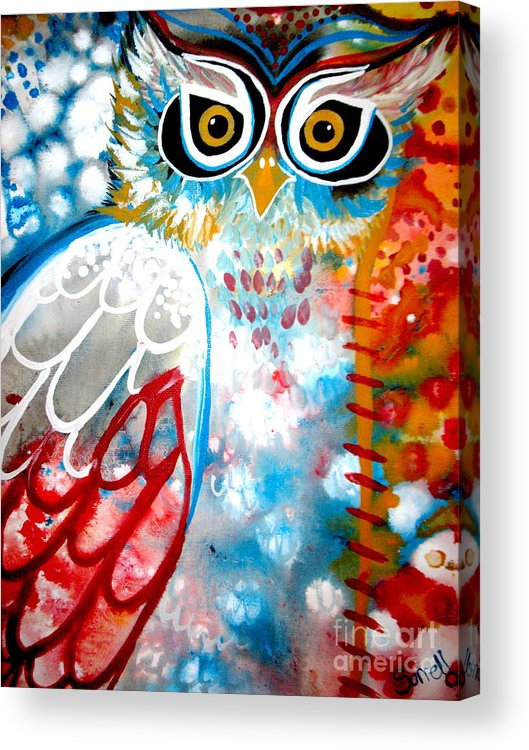 Owl Acrylic Print featuring the painting Sprinkles by Amy Sorrell