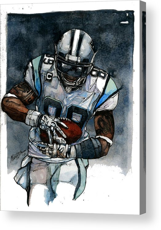 Steve Acrylic Print featuring the painting Steve Smith by Michael Pattison