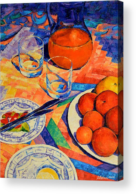 Still Life Acrylic Print featuring the painting Still Life 1 by Iliyan Bozhanov