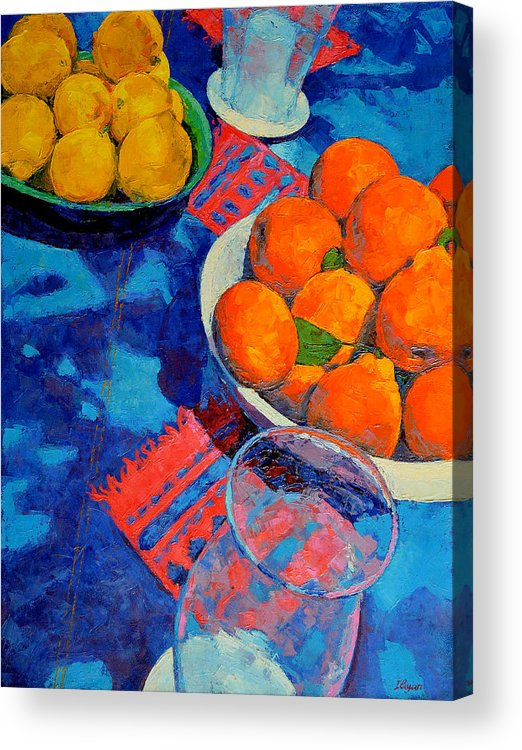 Still Life Acrylic Print featuring the painting Still Life 2 by Iliyan Bozhanov