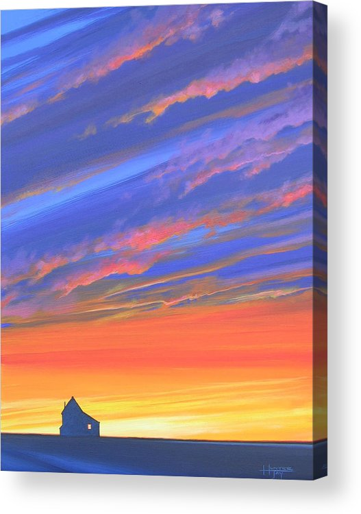 Sunset Acrylic Print featuring the painting The Aunt's House by Hunter Jay