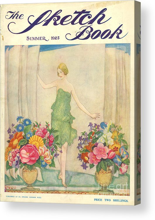 1920�s Acrylic Print featuring the drawing The Sketch Book 1925 1920s Uk Womens by The Advertising Archives