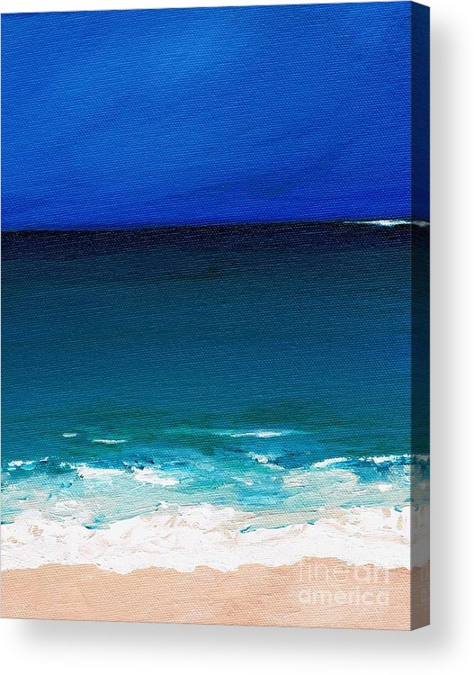 Seashore Acrylic Print featuring the painting The Tide Coming In by Frances Marino