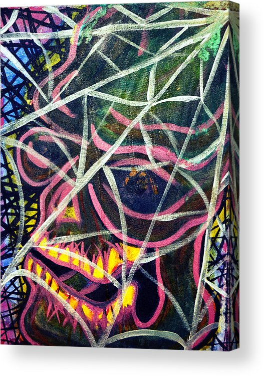 Tattoo Acrylic Print featuring the painting Trapped by Ryno Worm Tattoos