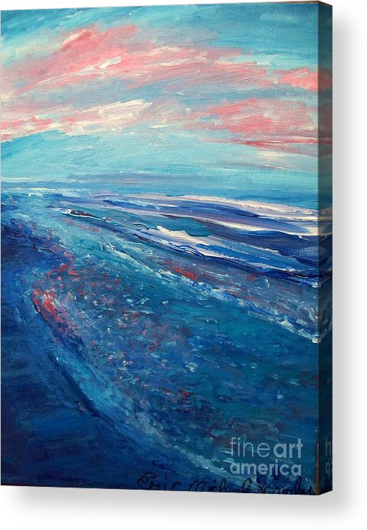 The Actor Acrylic Print featuring the painting Twilight by Eric Schiabor