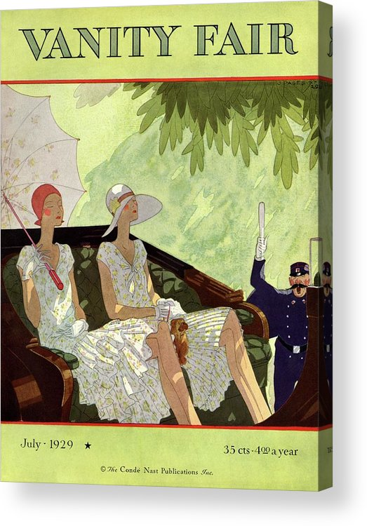 Illustration Acrylic Print featuring the photograph Vanity Fair Cover Featuring Two Women Sitting by Jean Pages