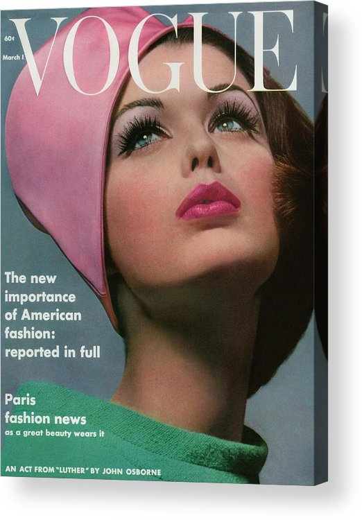 Accessories Acrylic Print featuring the photograph Vogue Cover Of Dorothy Mcgowan by Bert Stern