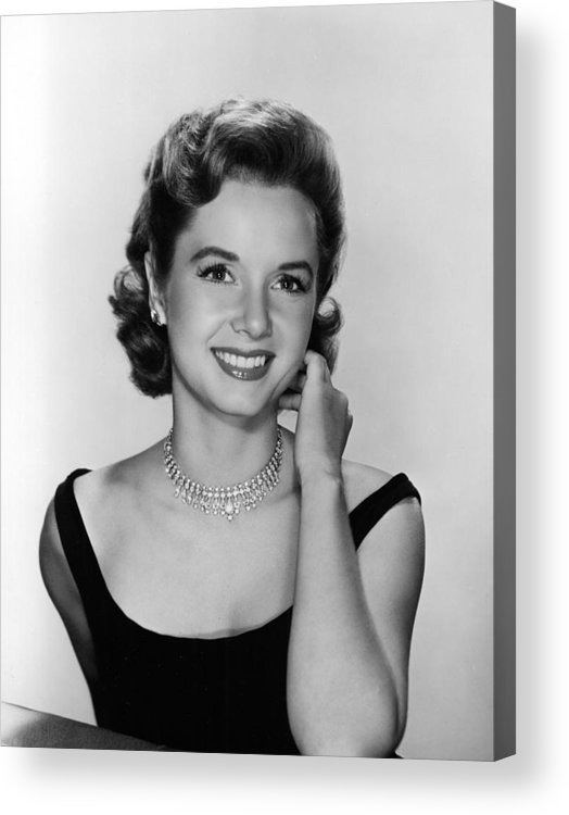 Necklace Acrylic Print featuring the photograph Debbie Reynolds, 1956 by Everett