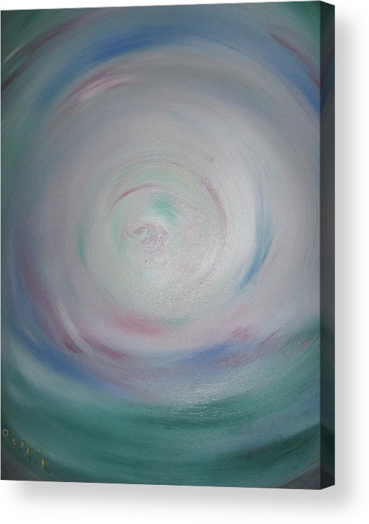 Serene Acrylic Print featuring the painting Clarity by O'Clair Alexander