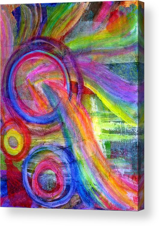 Creative Passages Acrylic Print featuring the mixed media Bursting Forth by Cassandra Donnelly