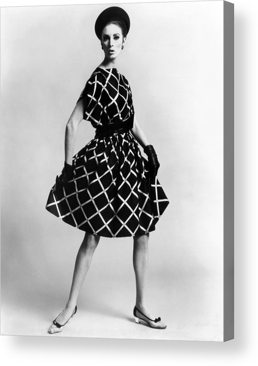 History Acrylic Print featuring the photograph Dress By Pauline Trigere. Short by Everett