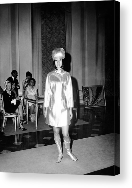 History Acrylic Print featuring the photograph Emilio Pucci Ensemble Influenced by Everett