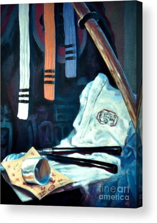 Acrylic Print featuring the painting Empty Cup by Mark Dallmeier