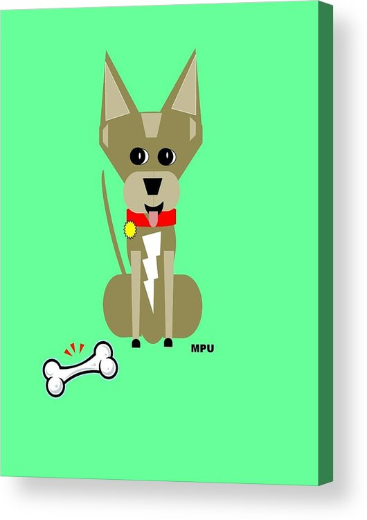 Chihuahua Acrylic Print featuring the digital art Geo Chihuahua by Maria Urso
