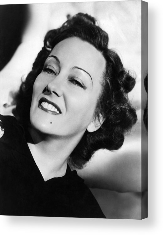11x14lg Acrylic Print featuring the photograph Gloria Swanson, Ca. Early 1940s by Everett