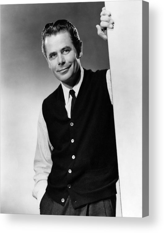 1950s Portraits Acrylic Print featuring the photograph Interrupted Melody, Glenn Ford, 1955 by Everett