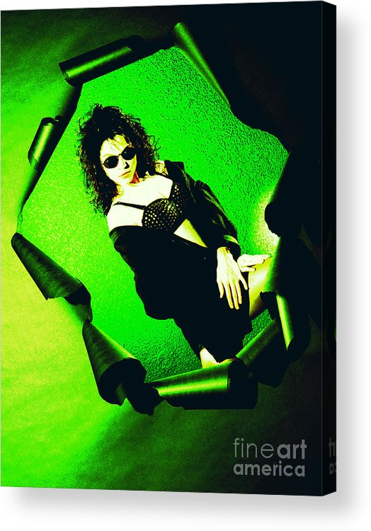 Model Acrylic Print featuring the photograph Jane Joker 3-2 by Gary Gingrich Galleries