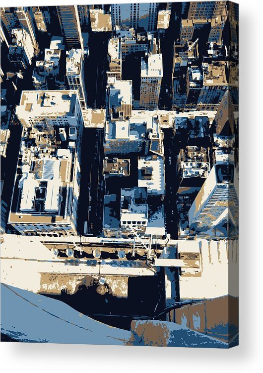 Empire State Building Acrylic Print featuring the photograph Looking Down Color 6 by Scott Kelley