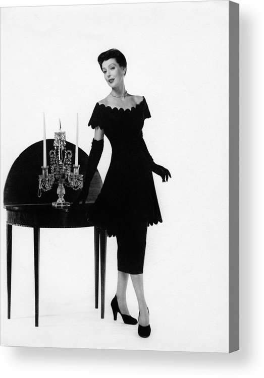 11x14lg Acrylic Print featuring the photograph Loretta Young, Ca. Late 1940s by Everett