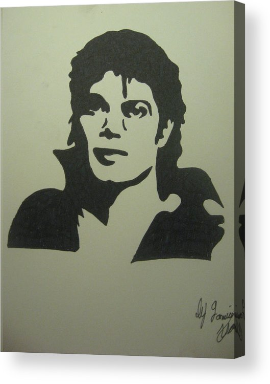 Michael Jackson Acrylic Print featuring the drawing Michael Jackson by Damian Howell