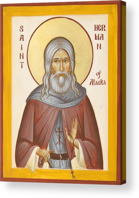 St Herman Of Alaska Acrylic Print featuring the painting St Herman Of Alaska by Julia Bridget Hayes