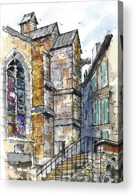 French Scenes Acrylic Print featuring the painting St. Martin's Cathedral by Fred Ekman