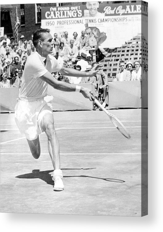 1950s Candids Acrylic Print featuring the photograph Tennis Champion Jack Kramer, Playing by Everett