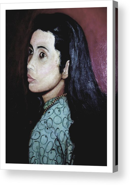 Painting Of A Beautiful Woman. Acrylic Print featuring the painting That Girl by Theo Bethel