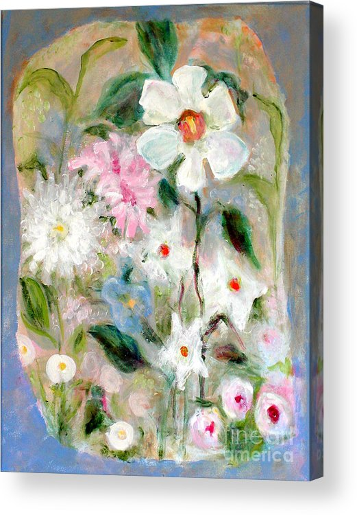 Floral Acrylic Print featuring the painting Unity Garden by Joi Sampsell