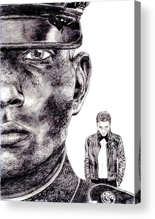 Marine Acrylic Print featuring the drawing Who Fights Our Wars by Blake Grigorian