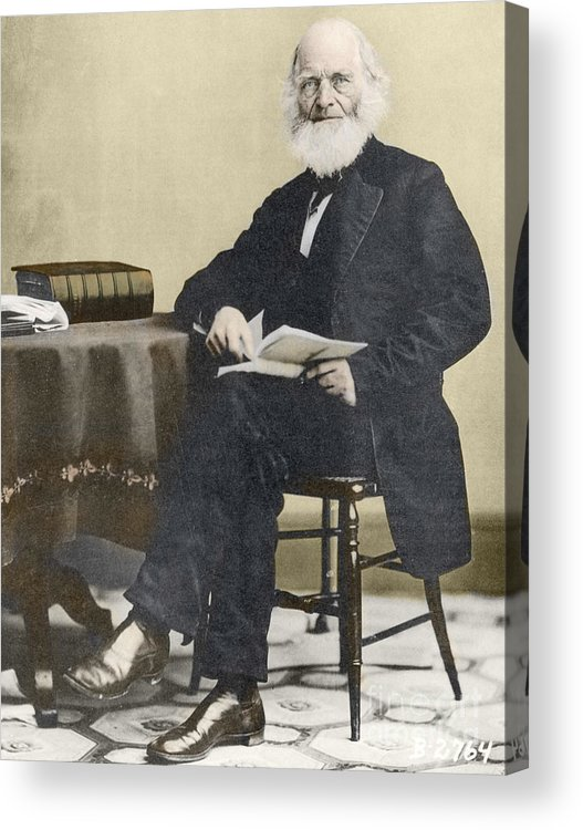 History Acrylic Print featuring the photograph William Cullen Bryant, American Poet by Science Source