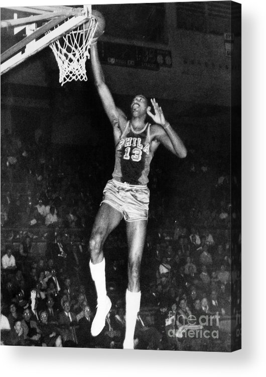 1962 Acrylic Print featuring the photograph Wilt Chamberlain (1936-1996) by Granger