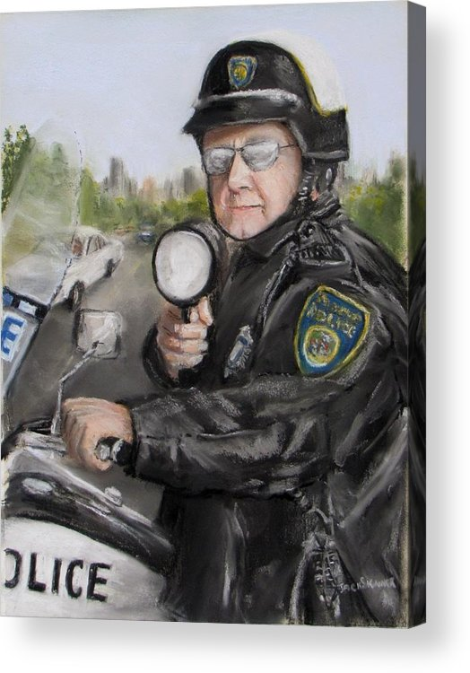 Police Acrylic Print featuring the painting Gotcha by Jack Skinner
