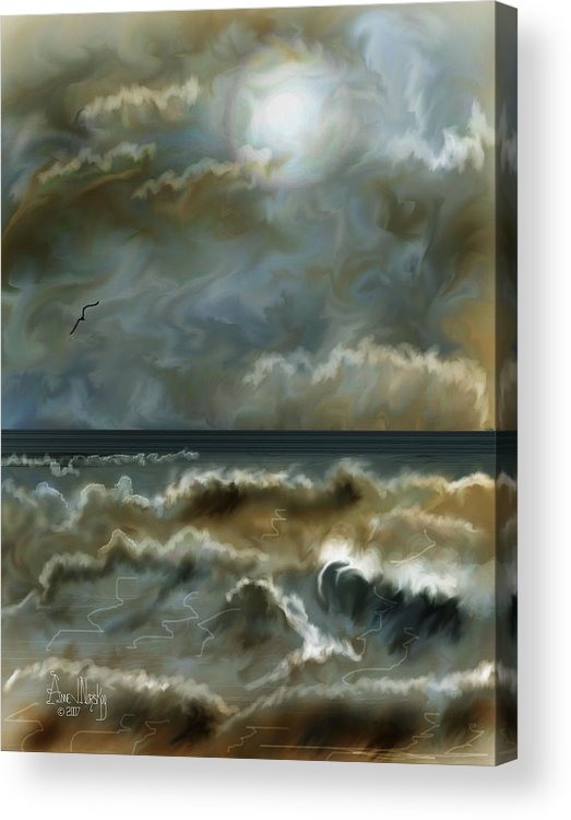 Seascape Acrylic Print featuring the painting After The Squall by Anne Norskog