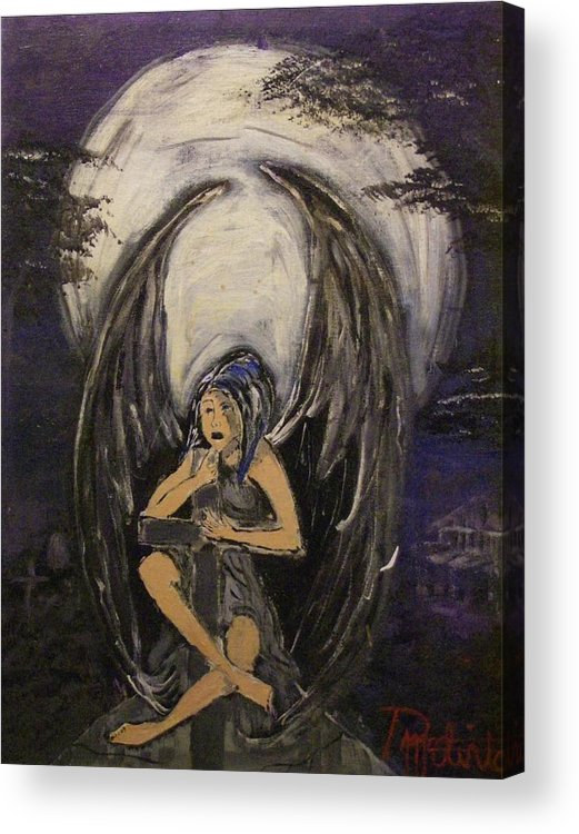 Fantasy Acrylic Print featuring the painting Bitter Angel by Danial Mcclinton