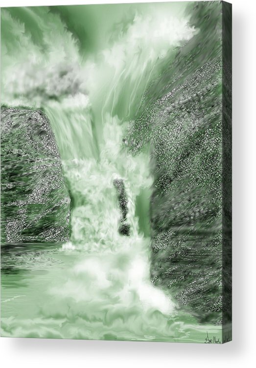 White Water Acrylic Print featuring the painting Cherry Creek Lower Run by Anne Norskog