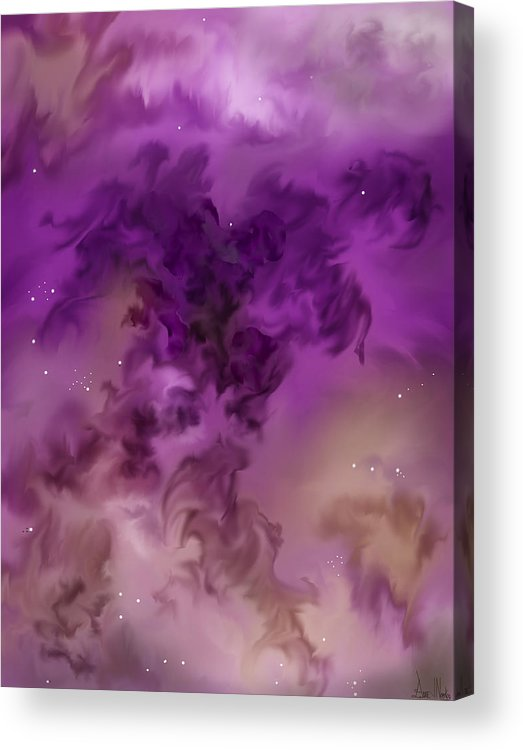 Starscape Acrylic Print featuring the painting Eagle Nebula From The Hubble by Anne Norskog