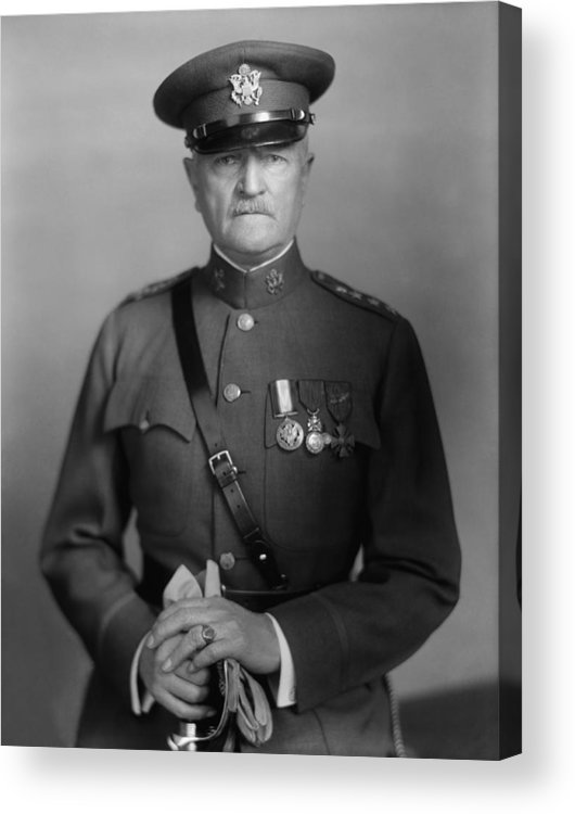 General Pershing Acrylic Print featuring the photograph General John Pershing 1 by War Is Hell Store