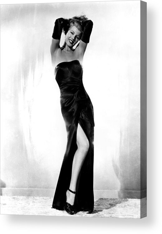 1940s Portraits Acrylic Print featuring the photograph Gilda, Rita Hayworth, 1946 by Everett