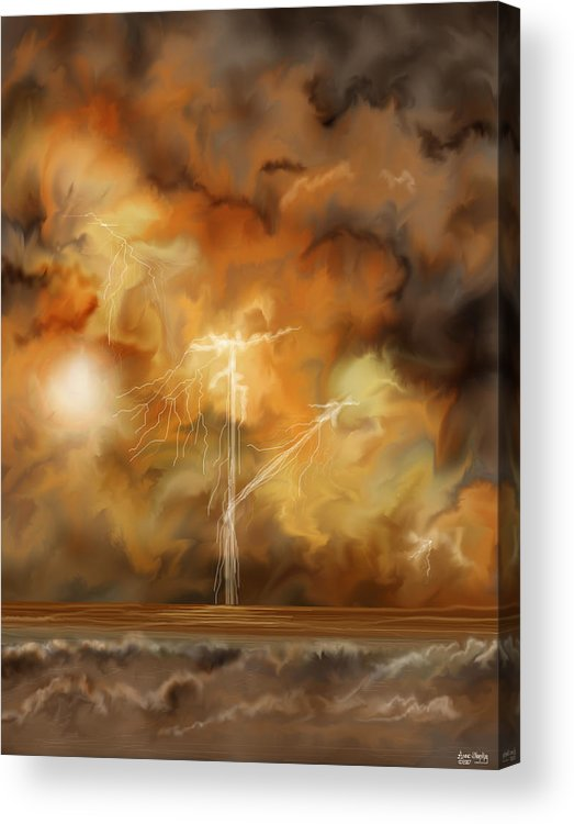 Anne Norskog Acrylic Print featuring the painting Raw Power by Anne Norskog