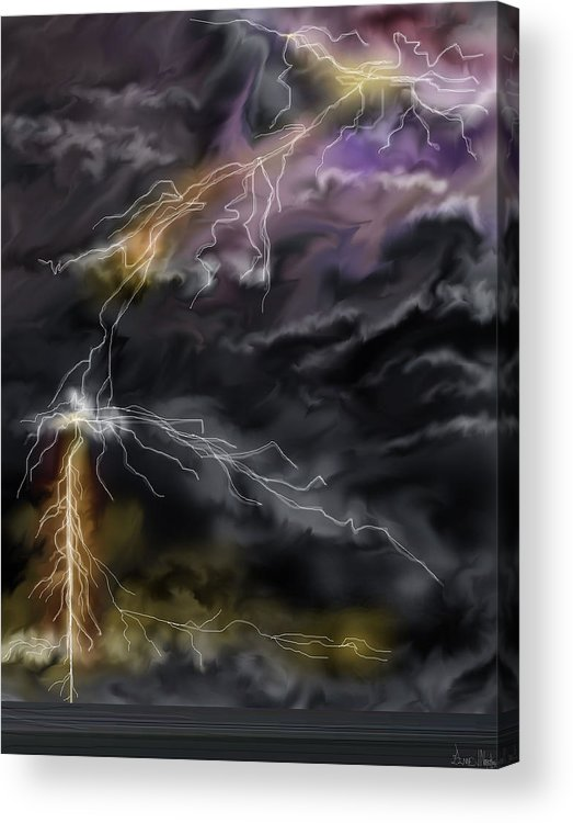 Seascape Acrylic Print featuring the painting Shock And Awe by Anne Norskog